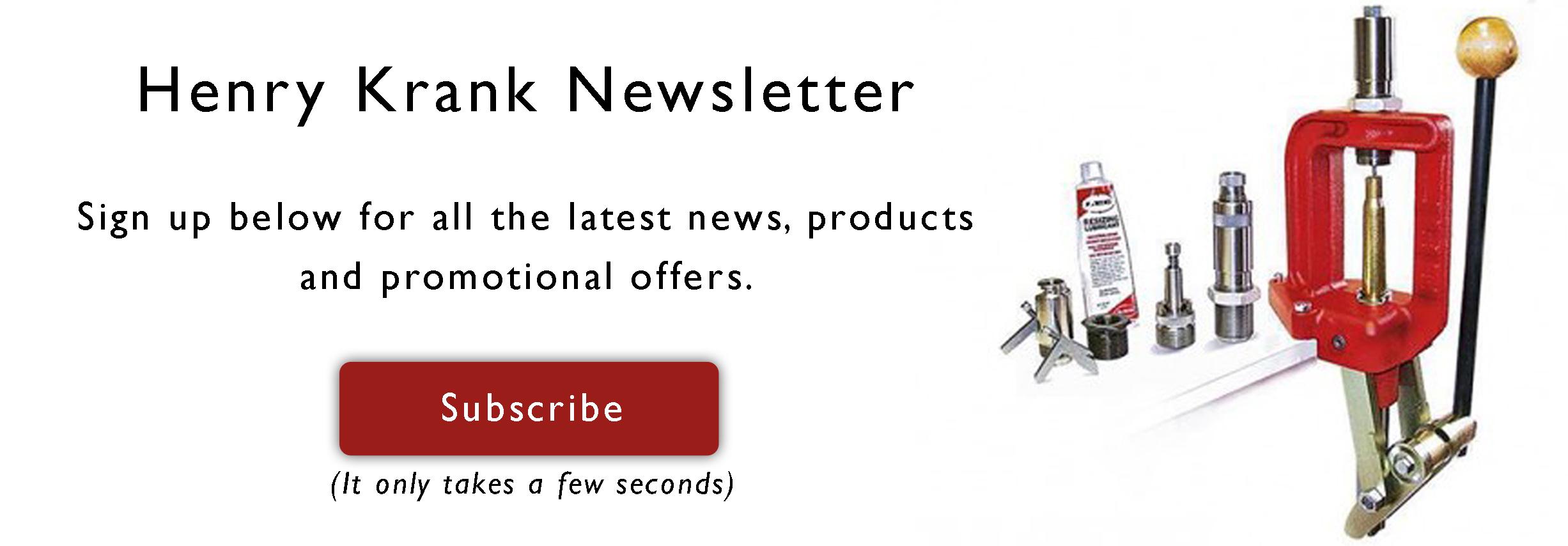 Henry Krank Newsletter Signup Banner