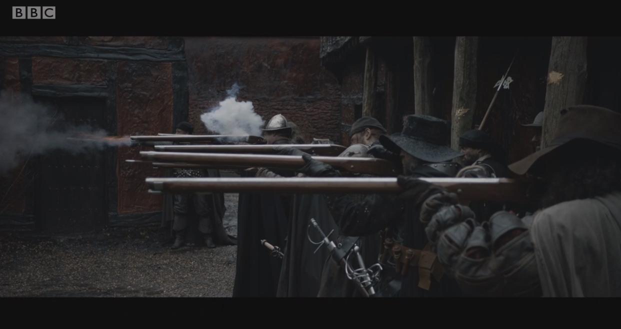 Matchlock musket BBC gunpowder gun