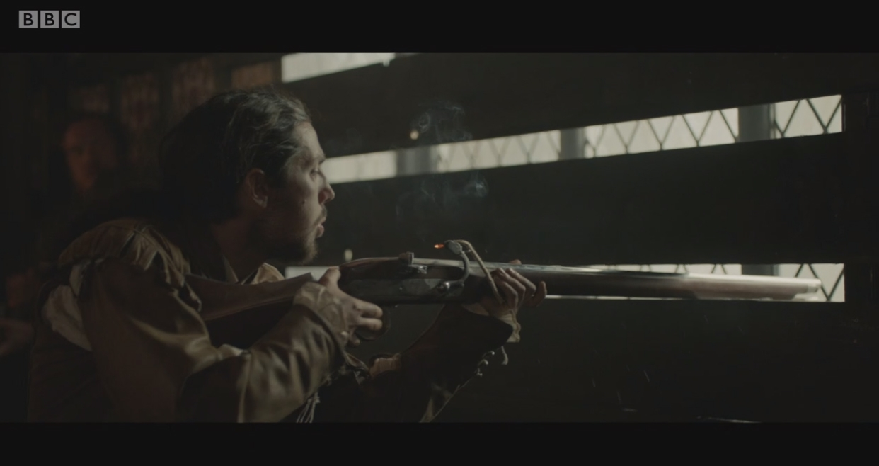 BBC gunpowder Matchlock musket gun