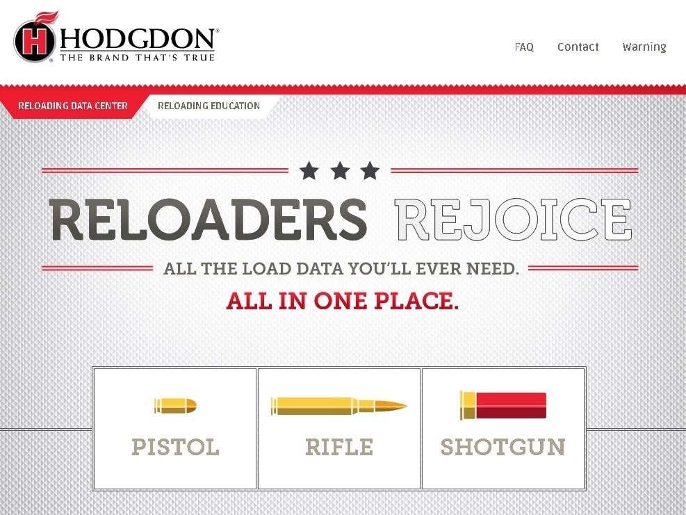 Hodgdon reloading data website