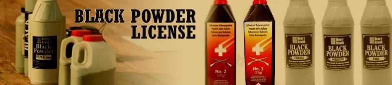 Black powder license