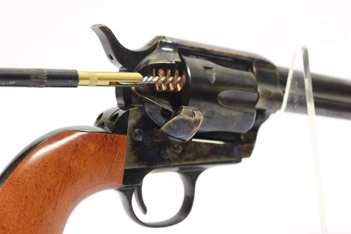 how to clean a revolver