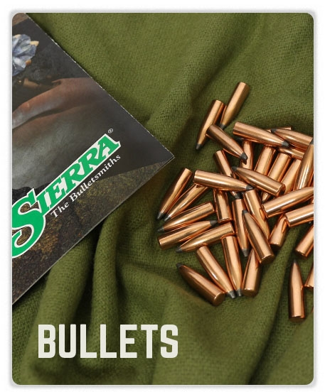 Sierra Bullets on a green background