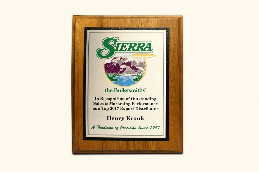 Sierra bullets Henry Krank award